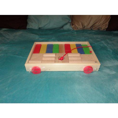 Fakocsi építőkockával