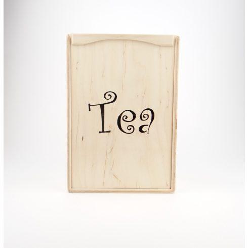 """"""" Tea"""" feliratú teás doboz"""
